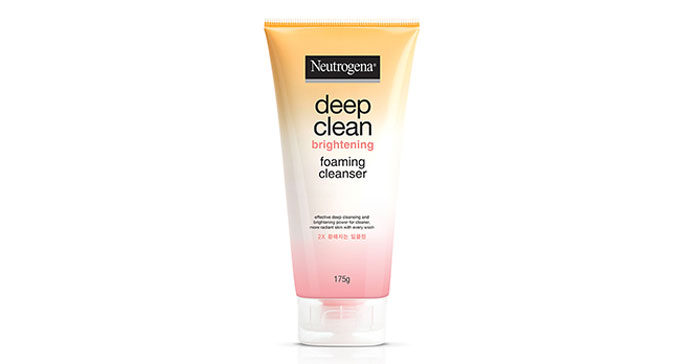Neutrogena Deep Clean Brightening Foaming Cleanser โฟมล้างหน้าปราบสิว