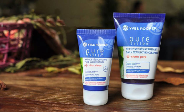 Yves Rocher Pure System Daily Exfoliating Cleanser โฟมล้างหน้าปราบสิว