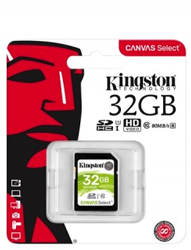 Kingston Canvas Select SDHC Class: 10 / U1 (80MB/s) – 32GB