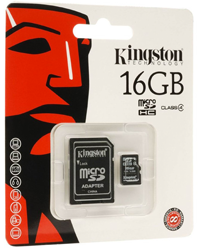 Kingston Micro SDHC Class: 4 (10MB/s) -16GB