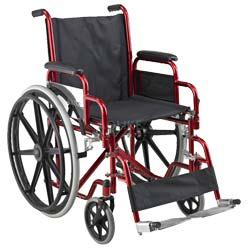 AOLIKE รถเข็นผู้ป่วย Wheelchair วีลแชร์ พับได้ โครงเหล็กชุบ รุ่น ALK903B-46