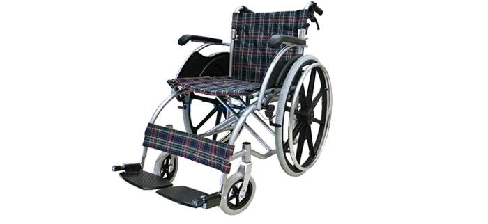 Triple Y Wheelchair Y874L รถเข็นผู้ป่วยพับได้ แบบอลูมิเนียม ล้อแม็ก