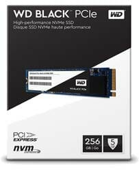 WD BLACK 250GB SSD M.2 2280 PCIe NVMe 3.0 x4