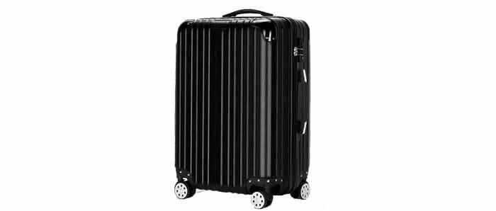กระเป๋าเดินทาง24นิ้ว รุ่นซิป ล้อคู่ 360 องศา เข็นลื่น