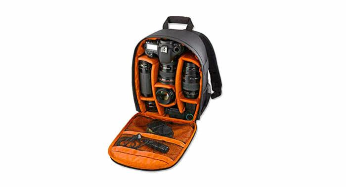 Foonee เป้ใส่กล้องถ่ายรูปกล้องกันน้ำกระเป๋าจัดระเบียบปรับเบาะสำหรับกล้อง DSLR Universal กันน้ำ