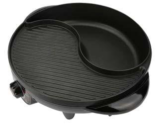 Hanabishi [PCM] เตาย่างบาร์บีคิว เตาปิ้งย่างไฟฟ้า รุ่น BBQ-01S แบ่งส่วนต้ม-ปิ้งได้