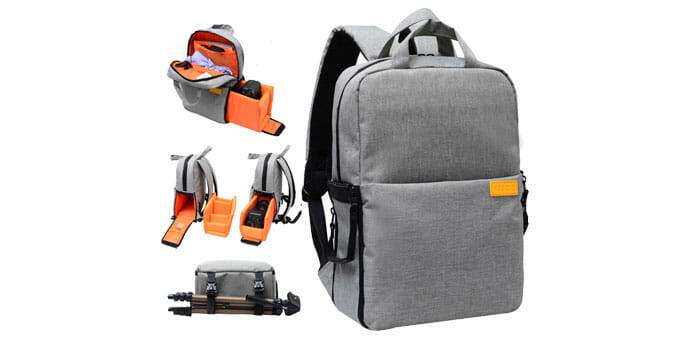 YASCIO กระเป๋าเป้ ใส่กล้อง มีถุงกันน้ำแถมให้ในชุด แบบโปรเฟชชั่นนอล กระเป๋ใส่กล้อง DSLR